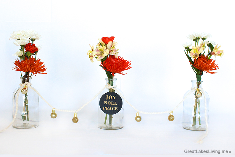 How-To: Create a Holiday landscape flower arrangement with only 1 bouquet