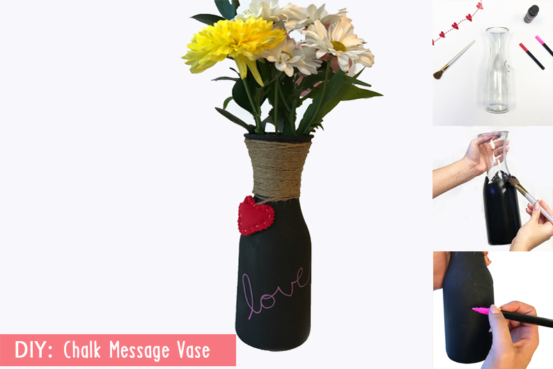 How to: DIY Chalk Message Vase